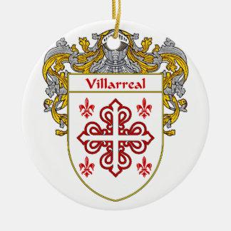 Escudo de armas de Villarreal/escudo de la familia Adorno Navideño Redondo De Cerámica