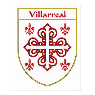 Escudo de armas de Villarreal/escudo de la familia Tarjeta Postal