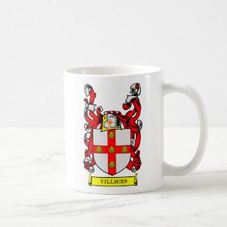 Escudo de armas de VILLIERS Tazas De Café