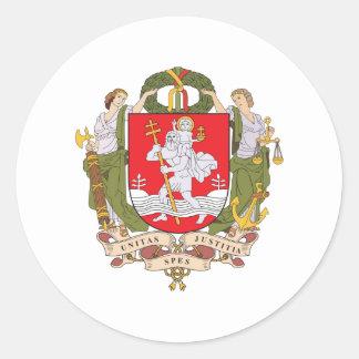 Escudo de armas de Vilna Etiquetas Redondas