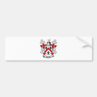 Escudo de armas de WALSH Pegatina De Parachoque