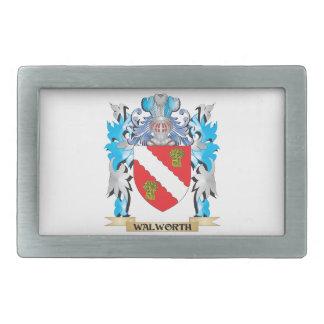 Escudo de armas de Walworth - escudo de la familia Hebillas Cinturon Rectangulares