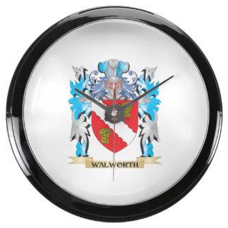 Escudo de armas de Walworth - escudo de la familia Reloj Pecera