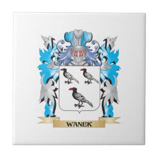 Escudo de armas de Wanek - escudo de la familia Azulejo Cuadrado Pequeño