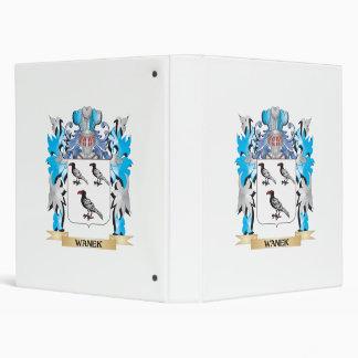 "Escudo de armas de Wanek - escudo de la familia Carpeta 1"""