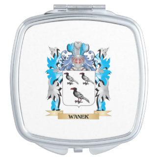 Escudo de armas de Wanek - escudo de la familia Espejo De Viaje