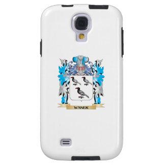 Escudo de armas de Wanek - escudo de la familia Funda Para Galaxy S4