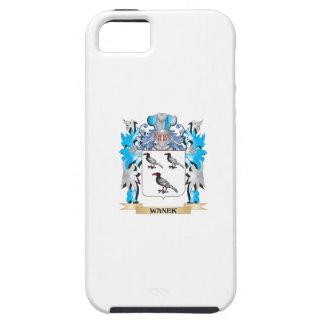 Escudo de armas de Wanek - escudo de la familia iPhone 5 Funda