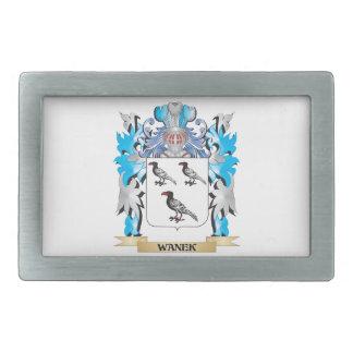 Escudo de armas de Wanek - escudo de la familia Hebillas De Cinturón Rectangulares