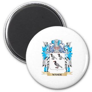 Escudo de armas de Wanek - escudo de la familia Imán Redondo 5 Cm