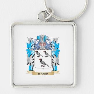Escudo de armas de Wanek - escudo de la familia Llavero Cuadrado Plateado