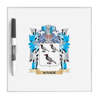 Escudo de armas de Wanek - escudo de la familia Pizarras Blancas De Calidad