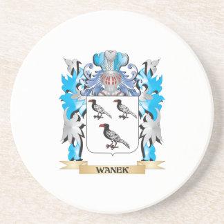 Escudo de armas de Wanek - escudo de la familia Posavasos Personalizados