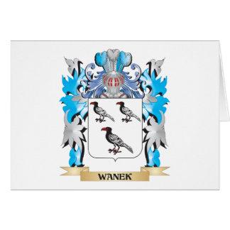Escudo de armas de Wanek - escudo de la familia Tarjeta Pequeña