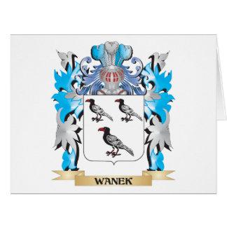 Escudo de armas de Wanek - escudo de la familia Tarjeta De Felicitación Grande