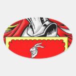 Escudo de armas de Wareham Pegatina Ovalada