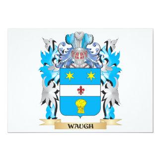 """Escudo de armas de Waugh - escudo de la familia Invitación 5"""" X 7"""""""