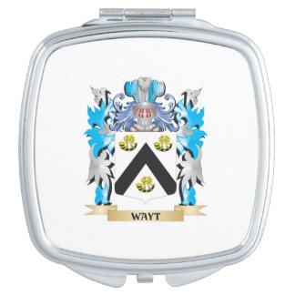 Escudo de armas de Wayt - escudo de la familia Espejos Compactos