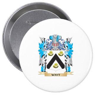 Escudo de armas de Wayt - escudo de la familia Pin Redondo 10 Cm