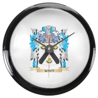 Escudo de armas de Wayt - escudo de la familia Reloj Aquavista