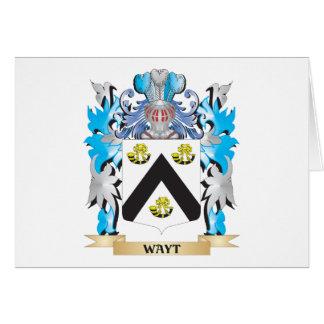 Escudo de armas de Wayt - escudo de la familia Tarjeta Pequeña