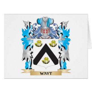 Escudo de armas de Wayt - escudo de la familia Tarjeta De Felicitación Grande