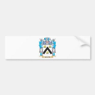 Escudo de armas de Wayte - escudo de la familia Pegatina Para Auto