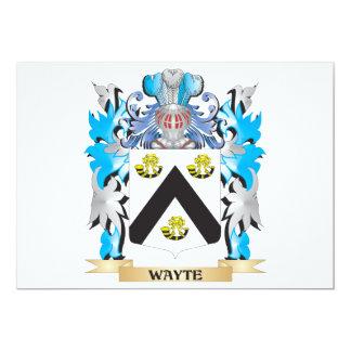 """Escudo de armas de Wayte - escudo de la familia Invitación 5"""" X 7"""""""