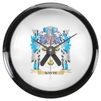 Escudo de armas de Wayte - escudo de la familia Relojes Aquavista