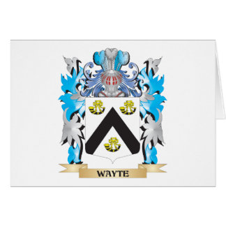 Escudo de armas de Wayte - escudo de la familia Tarjeta Pequeña