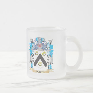 Escudo de armas de Wayte - escudo de la familia Taza Cristal Mate