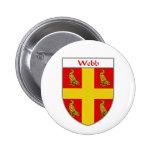 Escudo de armas de Webb/escudo de la familia Pins