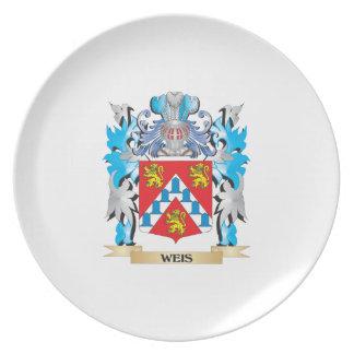 Escudo de armas de Weis - escudo de la familia Plato De Cena