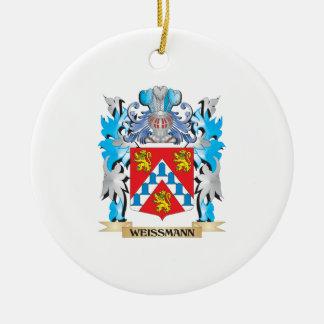 Escudo de armas de Weissmann - escudo de la Adorno Navideño Redondo De Cerámica