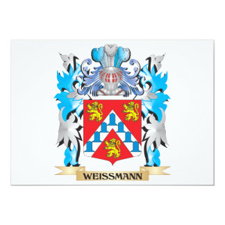 "Escudo de armas de Weissmann - escudo de la Invitación 5"" X 7"""