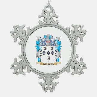 Escudo de armas de Welburn - escudo de la familia Adorno De Peltre En Forma De Copo De Nieve