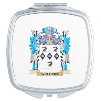 Escudo de armas de Welburn - escudo de la familia Espejo Maquillaje