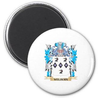 Escudo de armas de Welburn - escudo de la familia Imán Redondo 5 Cm