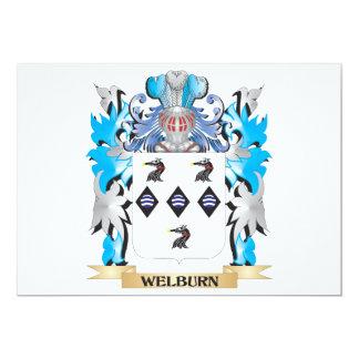 """Escudo de armas de Welburn - escudo de la familia Invitación 5"""" X 7"""""""