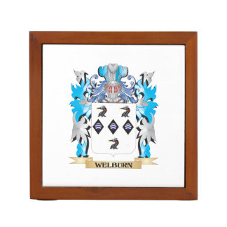 Escudo de armas de Welburn - escudo de la familia Organizador De Escritorio