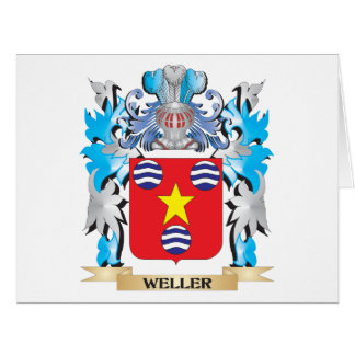 Escudo de armas de Weller - escudo de la familia Tarjeta De Felicitación Grande