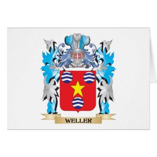 Escudo de armas de Weller - escudo de la familia Tarjeta Pequeña
