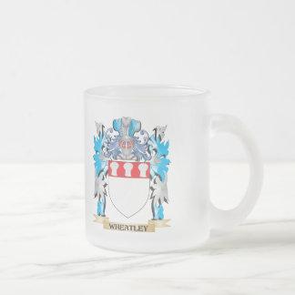 Escudo de armas de Wheatley - escudo de la familia Taza Cristal Mate