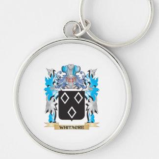 Escudo de armas de Whitacre - escudo de la familia Llavero Redondo Plateado