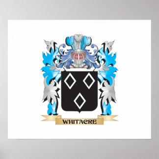 Escudo de armas de Whitacre - escudo de la familia Póster