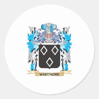 Escudo de armas de Whitacre - escudo de la familia Pegatina Redonda