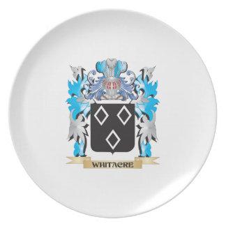 Escudo de armas de Whitacre - escudo de la familia Plato De Comida