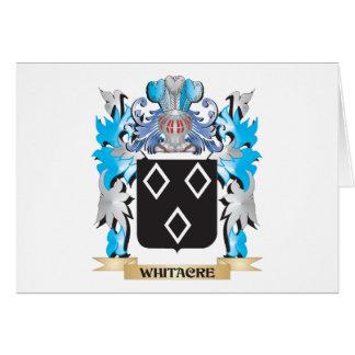 Escudo de armas de Whitacre - escudo de la familia Tarjeta Pequeña
