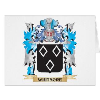 Escudo de armas de Whitacre - escudo de la familia Tarjeta De Felicitación Grande