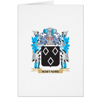 Escudo de armas de Whitacre - escudo de la familia Tarjeta De Felicitación